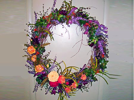 Brightly Flowered Wreath