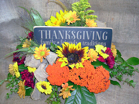 Signs of Thanksgiving Arrangement