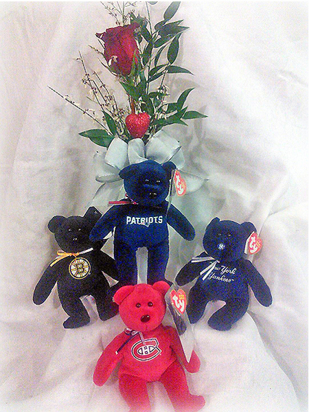 Football Stuffie and Flowers